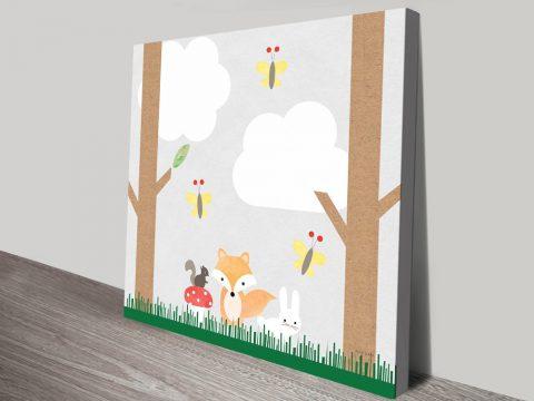 Buy Woodland Animals ll Affordable Kids Art AU