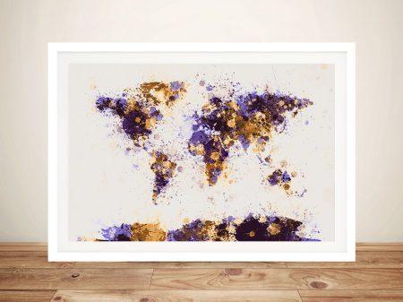 Buy Michael Tompsett Paint Splash Map Art