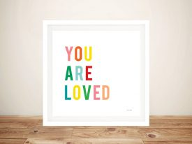 Buy You Are Loved Children's Canvas Art