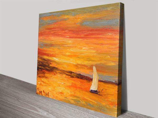 Buy A Winter Sunset Affordable Vibrant Prints AU