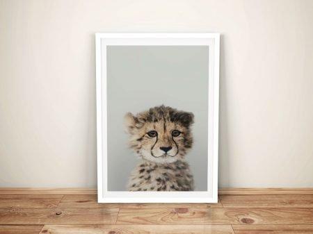 Buy a Gorgeous Baby Cheetah Portrait Print