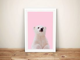 Buy a Sweet Framed Print of a Polar Bear Cub