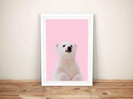 Buy a Sweet Framed Print of a Polar Bear Cub