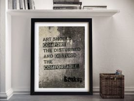 Buy a Ready to Hang Banksy Quote Print