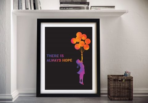 Buy a Framed Print of Watercolour Balloons
