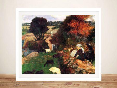 Buy Breton Shepherds Wall Art by Gauguin