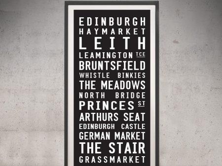 Buy an Edinburgh Framed Tram Scroll
