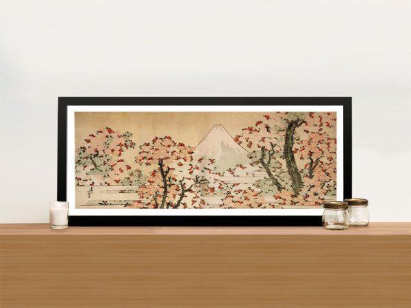 Hokusai cherry trees and flowers Wall Art
