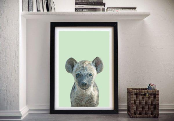Buy a Framed Canvas Print of a Hyena Cub