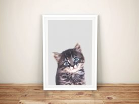 Buy a Ready to Hang Cute Kitten Portrait Print