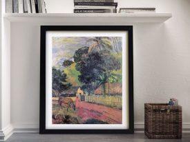 Buy a Framed Gauguin Tahitian Landscape Print