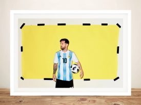 Buy a Framed Canvas Portrait of Lionel Messi