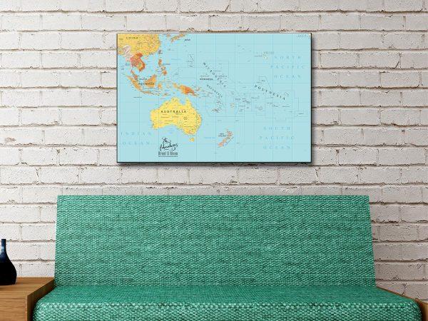 Buy Push Pin Map Wall Art Personalised Gifts AU