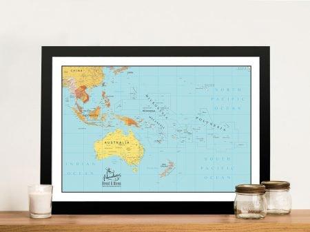 Buy an Oceania & Southeast Asia Push Pin Map