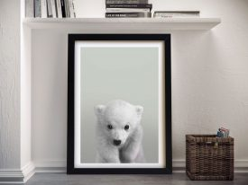 Buy a Polar Bear Cub Portrait Framed Print