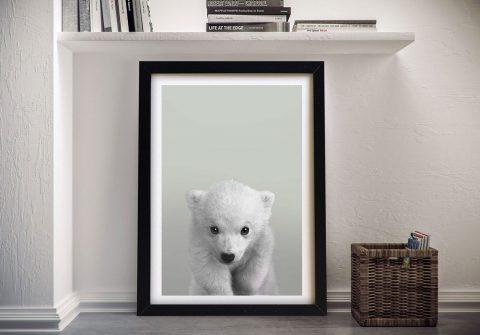 Buy a Polar Bear Cub Portrait Framed Print