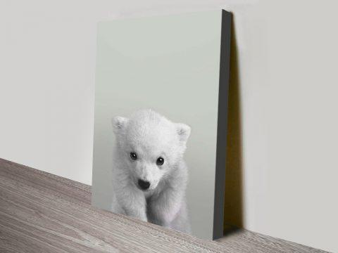 Buy a Polar Bear Portrait Print Nursery Wall Art AU