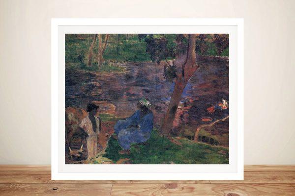 Buy a Gauguin Canvas Print of Pond Shore
