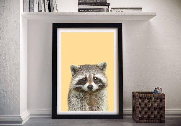 Buy a Ready to Hang Raccoon Portrait Print