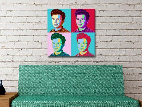 Rick Astley Warhol Style Wall Art for Sale Online