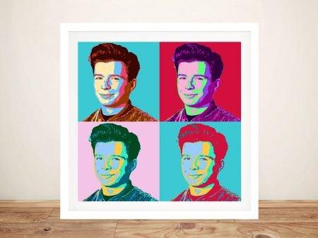 Buy a Warhol Style Rick Astley Framed Print