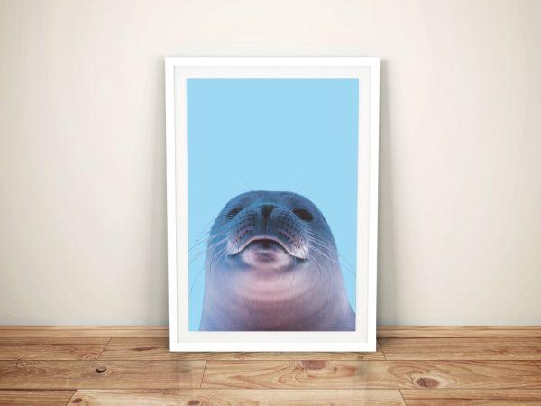 Buy a Seal Portrait Framed Kids Wall Art