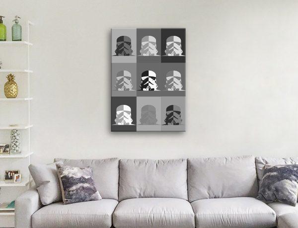 Black & White Star Wars Wall Art Gift Ideas AU