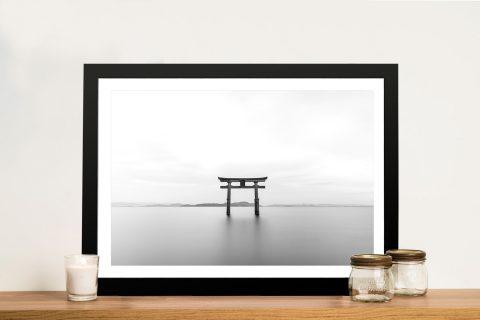 Buy The Shrine Framed Japanese Landscape Art