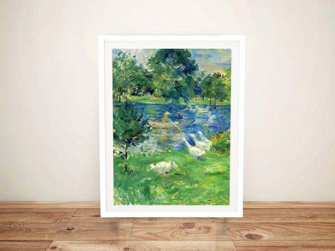 Buy View of Bois de Boulogne Canvas Artwork