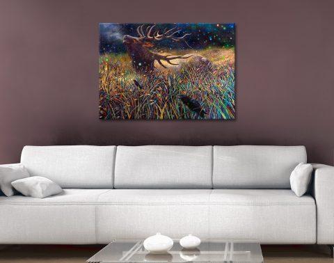 Wapiti Bull Elk Iris Scott canvas Artwork