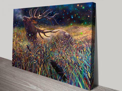 Wapiti Bull Elk Iris Scott canvas print