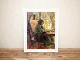 Buy a Framed Print of Young Girl Writing