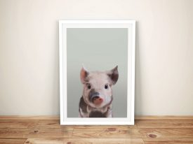 Buy a Pretty Little Piglet Ready to Hang Print