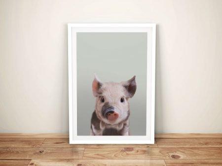 Pretty Little Piglet Ready to Hang Print