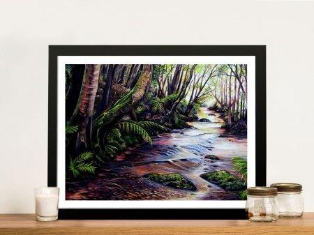 Buy Along the Creek Framed Canvas Wall Art