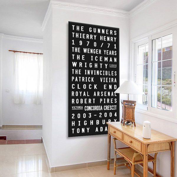 Arsenal Black & White Tram Scroll Canvas Art Print Australia