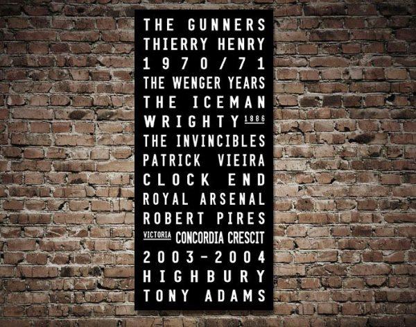 Buy Arsenal FC Canvas Print