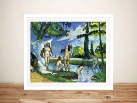 Buy The Bathers 4 Framed Canvas Artwork