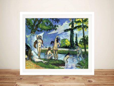 Buy The Bathers 4 Framed Canvas Artwork