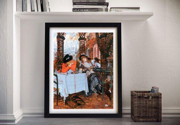 Buy Breakfast Framed Canvas Art by Tissot