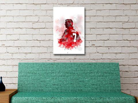 Buy a Cantona Framed Watercolour Portrait