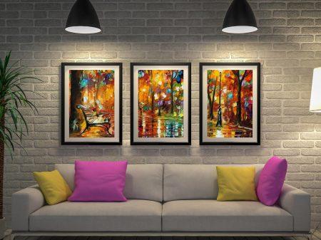 Colourful Night Framed 3-Panel Art