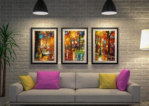 Buy Colourful Night Framed 3-Panel Artwork