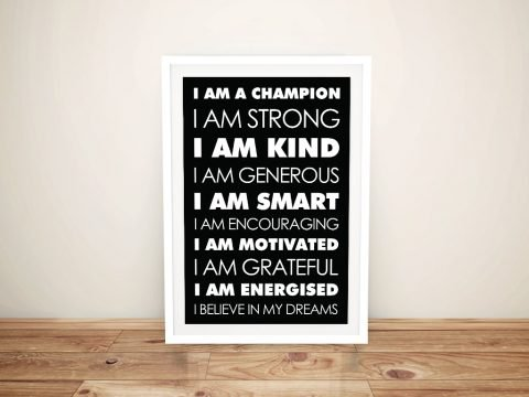 Buy Daily Affirmations Bold Framed Wall Art