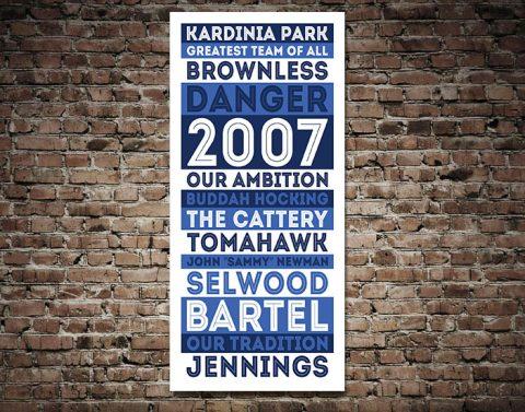 Geelong Cats AFL Retro Canvas print
