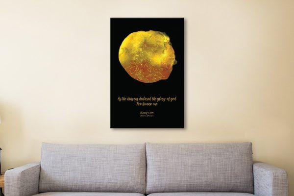 Gold Star Map Canvas Artwork
