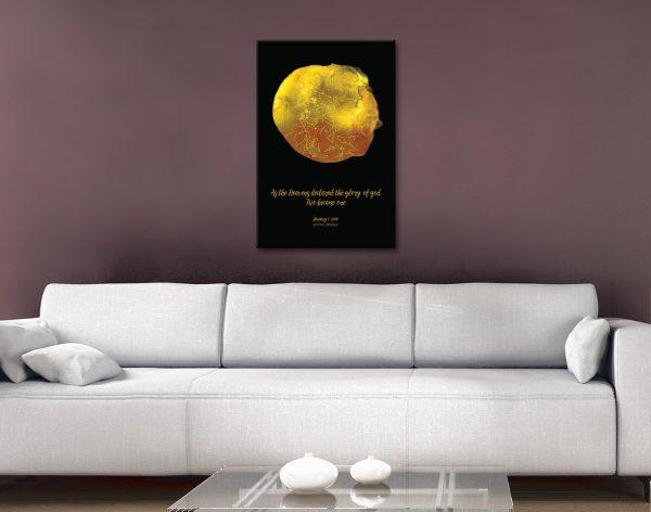Custom Gold Star Map Canvas Print