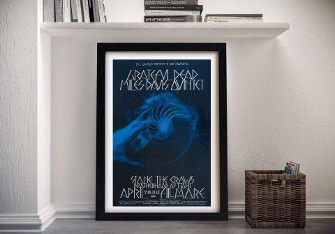 Grateful Dead Poster Framed Wall- rt