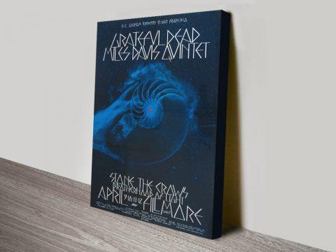 Grateful Dead & Miles Davis Vintage Rock Poster Print