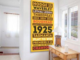 Hawthorn Hawks Tram Scroll